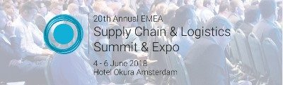 EMEA Supply Chain & Logistics Summit, 4-6 June, 2018.